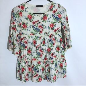Girls Floral Boutique Top/Tunic